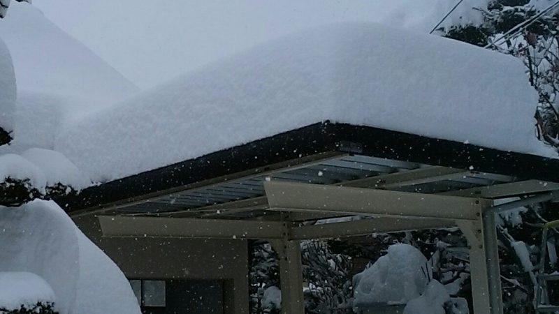 札幌市 カーポート 除雪作業しました