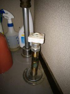水道凍結 解氷作業 水抜栓の写真