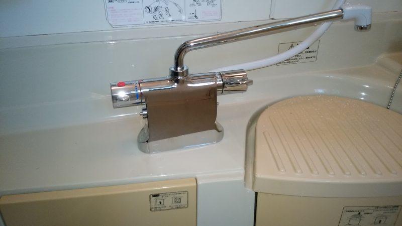 札幌市 北区 浴室 蛇口を交換しました。