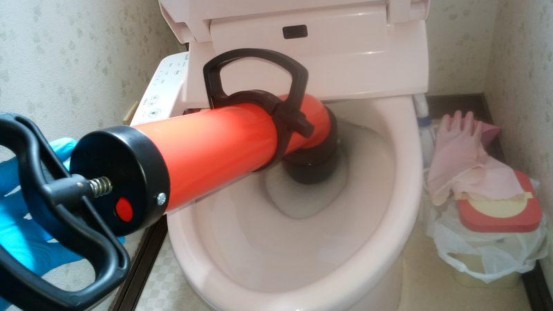 札幌市 手稲区 トイレ詰まり 解消しました。