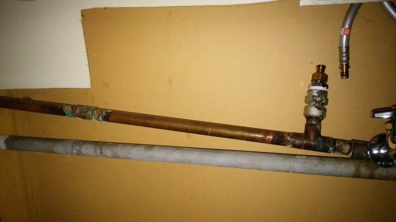 札幌市厚別区で水漏れ修理 |  給湯管補修しました。