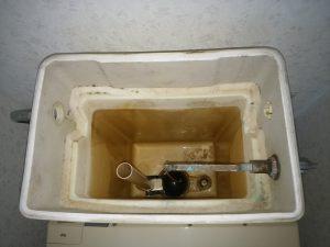 江別市 トイレの水漏れ修理 サイフォン管取付後