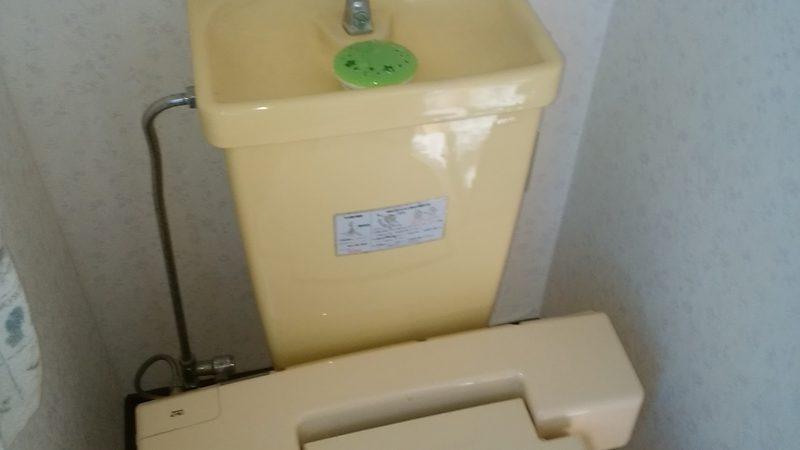 江別市 トイレの水漏れ修理 │タンク内の部品を交換しました。
