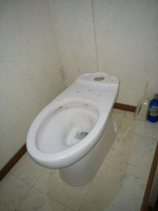 札幌市 豊平区 異物流れ トイレ詰まり修理 タンク外し