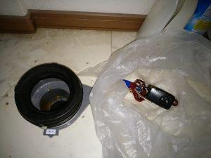 札幌市 豊平区 異物流れ トイレ詰まり修理 無事回収