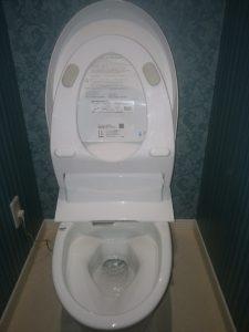 札幌市 北区 屯田 トイレ詰まり修理 清掃後の写真