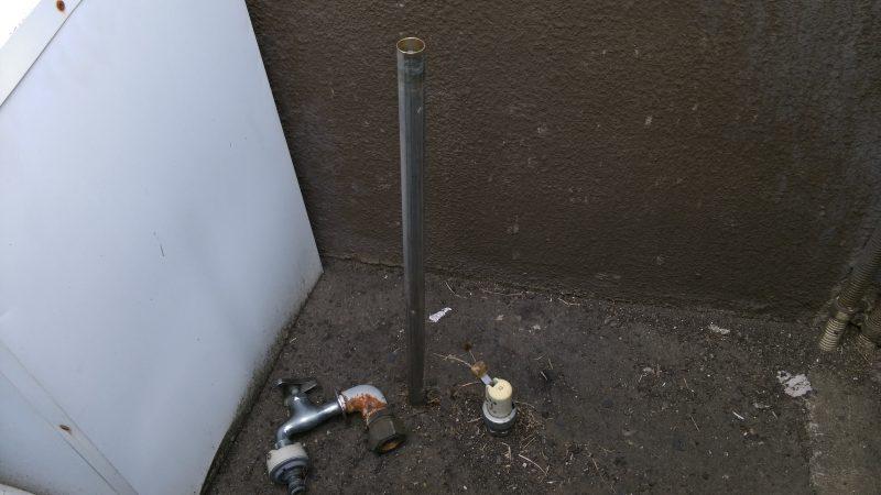 札幌市 白石区 菊水上町 屋外 散水栓 蛇口が取れた 不具合の修理 | 春先によく見かけるトラブルです
