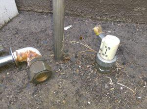 札幌市 白石区 菊水上町 屋外 散水栓 蛇口が取れた 抜けた継手