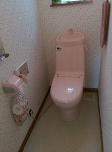 江別市新栄台 トイレ 水漏れ 修理 二階のトイレ
