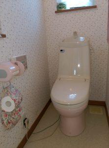 江別市新栄台 トイレ 水漏れ 修理 一階と二階の機能部を載せ替え