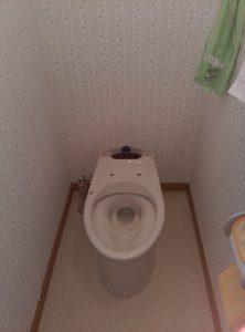 江別市新栄台 トイレ 水漏れ 修理 新しい便器の据え付け完了