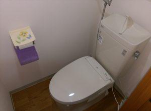 江別市 野幌町 洋式 トイレ の 交換 工事 便器交換作業完了
