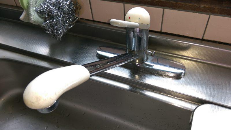 蛇口 交換 キッチンの修理 | 江別市 若草町|2穴→1穴へ変更しました