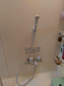 お風呂の 蛇口 水漏れ 修理 | 江別市 交換完了後の全景