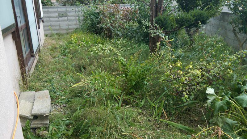 札幌市 東区 | 庭の草刈り 作業を承りました |便利屋サービス
