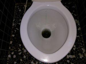 地下トラップとは? トイレ の 異物 詰まり |札幌市 南区|修理前②