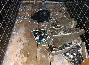 地下トラップとは? トイレ の 異物 詰まり |札幌市 南区|タイル床解体