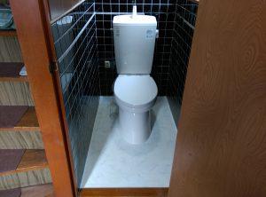 地下トラップとは? トイレ の 異物 詰まり |札幌市 南区|トイレ設置完了②