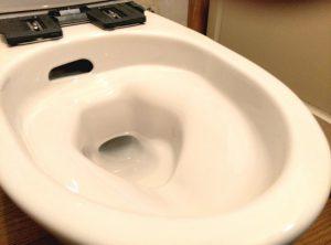 話題の フチレス トイレ に交換したい | 江別市 便鉢接写