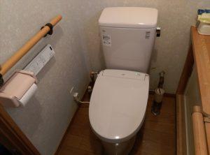 話題の フチレス トイレ に交換したい | 江別市 施工完了