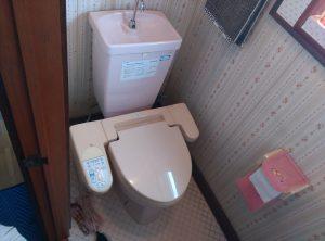 トイレの 床に 水溜り ができる | 江別市 野幌寿町 | 交換前