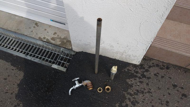 屋外 の 蛇口がとれた | 札幌市 清田区 北野 | 散水栓のジョイント抜け修理
