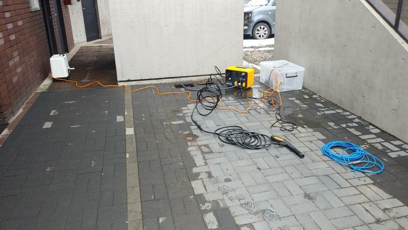 マンションの 共有部 排水 詰まり 除去作業 | 札幌市 北区 |高圧洗浄作業