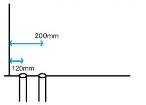 排水芯120mmと200mm