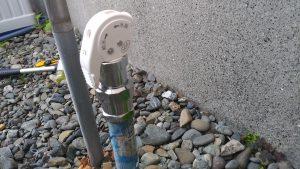 屋外散水栓から水漏れしている | 江別市 作業後①