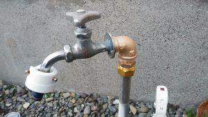 屋外散水栓から水漏れしている | 江別市 作業後②